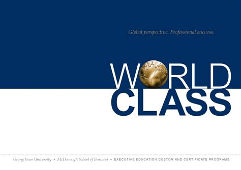 Georgetown Mba Admissions Login by Georgetown World Class Custom Programs By Georgetown