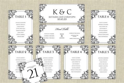 seating plan template wedding wedding seating chart template instantly