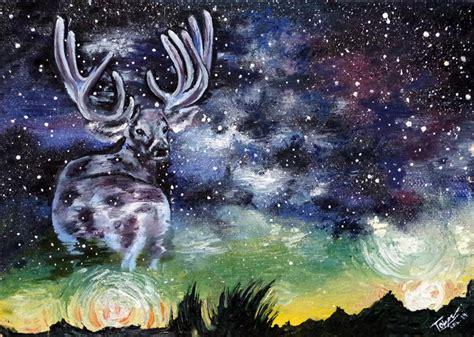 Galaxy Rainbow Deer ascendead master hiroto deviantart