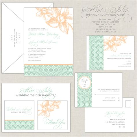 Einladung Hochzeit Mint by Mint Wedding Invitations Mint Green Wedding Invites