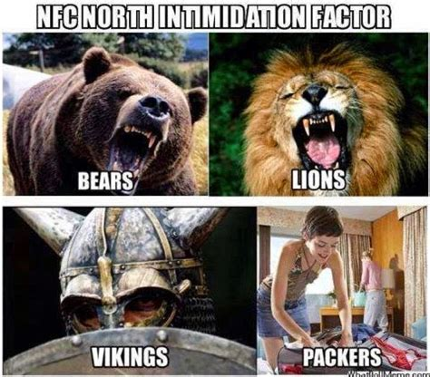 Packers Bears Memes - 22 meme internet nfc north intimidation factor bears