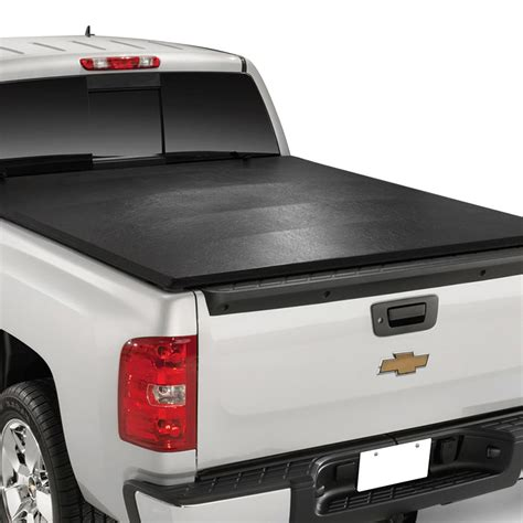 silverado bed cover trailfx 174 chevy silverado 2014 soft tri fold tonneau cover