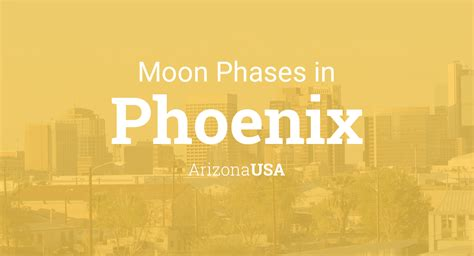 moon phases  lunar calendar  phoenix arizona usa