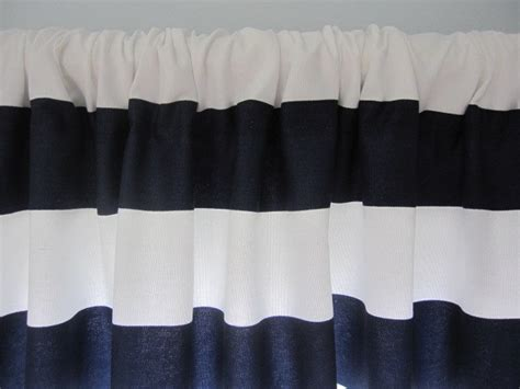 Navy And Curtains Curtain Valance Window Curtain Navy Blue And White