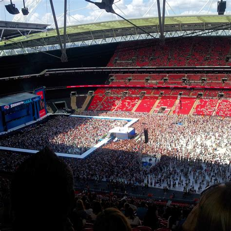 wembley stadium best seats concert view from wembley stadium block 523 row 36 seat 293
