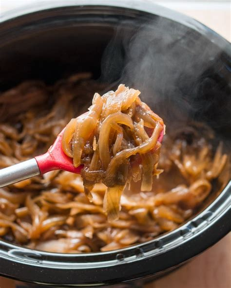 how to make caramelized onions in a slow cooker cooking
