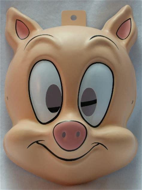 tiny toons hampton  pig warner bros halloween mask porky