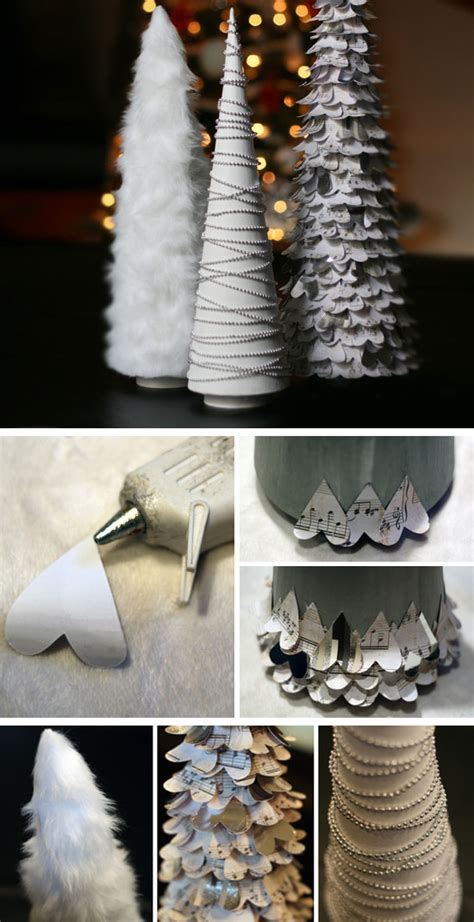 diy white christmas decorations   home