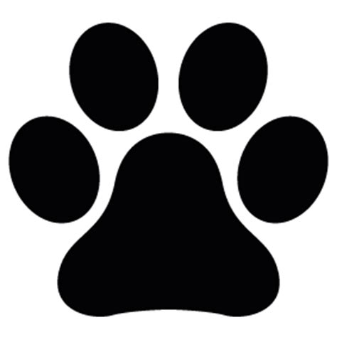 Paw Silhouette Vector Clipart Best Paw Print Silhouette