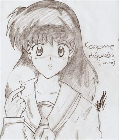 imagenes de inuyasha para dibujar a lapiz kagome higurashi aome dibujos anime98 fotolog