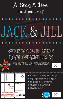 jack and jill party invitations stag and doe invitations