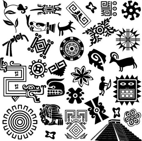 imagenes de flores aztecas ornamentos mayas cliparts vector clipart
