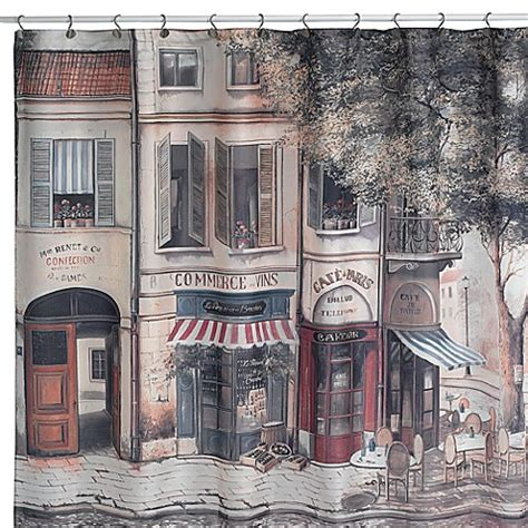 paris curtains bed bath beyond cafe de paris fabric shower curtain bed bath beyond