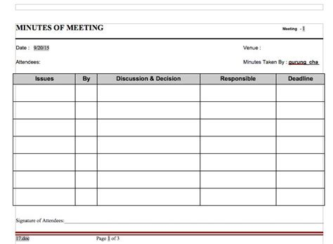 template meeting notes 20 handy meeting minutes meeting notes templates