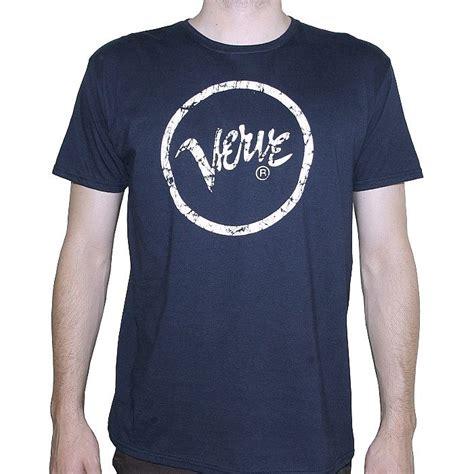 Tshirtt Shirt Petrolhead 01 Verve Verve T Shirt Navy With White Logo Vinyl At Juno
