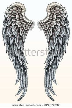 herunterladen hand gezeichneten engel fluegel