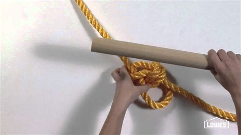 how to make a good rope swing knot tying for a rope tree swing youtube