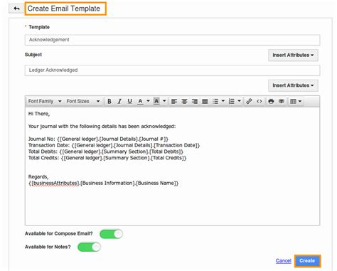 creating email templates how do i customize email templates in ledger app