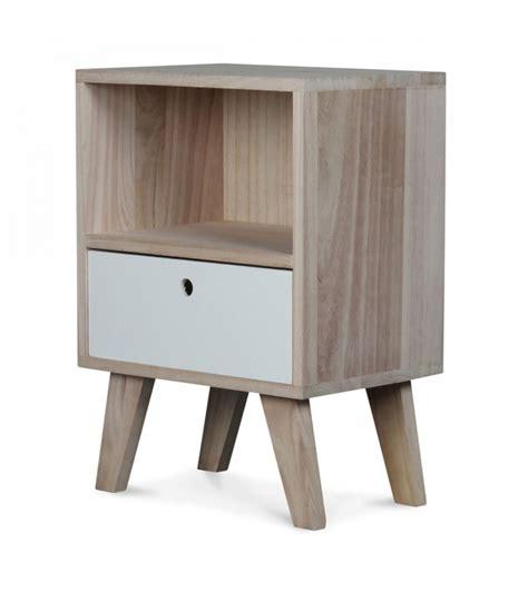 table de chevet design table de chevet design en bois haut 50cm wadiga