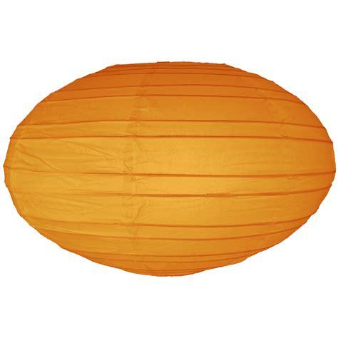Paper Lantern - 16 inch orange oval paper lantern
