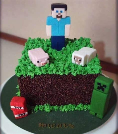 decorar bolo quadrado 65 ideias incr 237 veis de bolo minecraft passo a passo para
