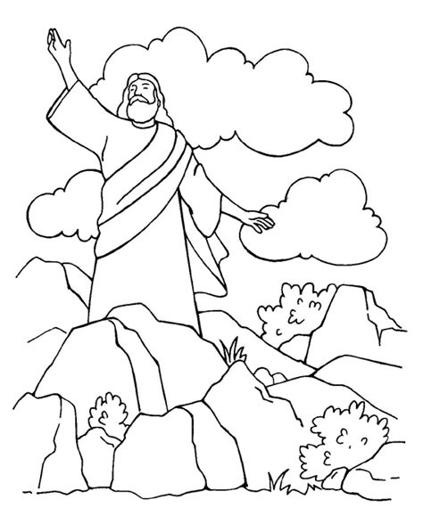 coloring pages jesus tempted desert satan tempts jesus coloring page