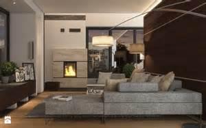 Home Design 3d Rendering nowoczesny i ciep y salon z kominikiem zdj cie od