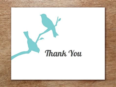 blank thank you card template word 6 thank you card templates word excel pdf templates