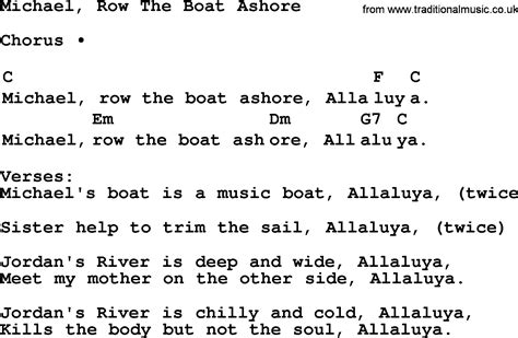 chords for michael row the boat ashore top 1000 folk and old time songs collection michael row