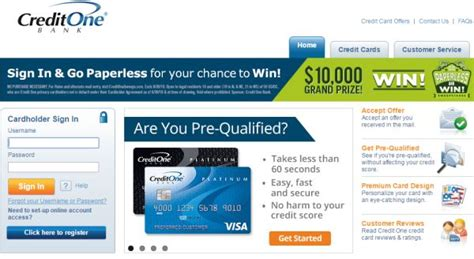 credit one bank credit card www creditonebank credit one bank credit card login