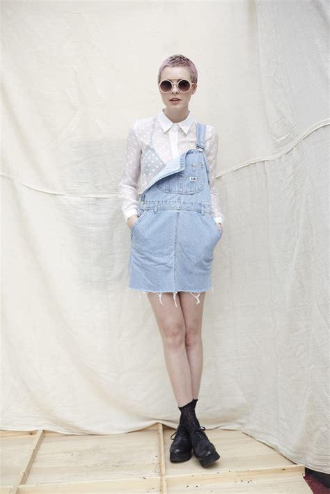 denim dungaree skirt fashion streetstyle details
