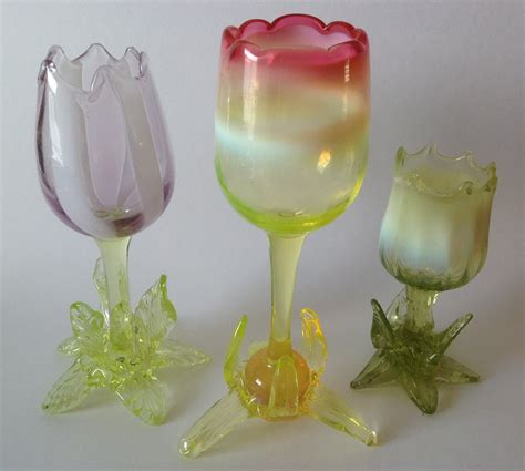 glass tulip vases by richardson collectors weekly