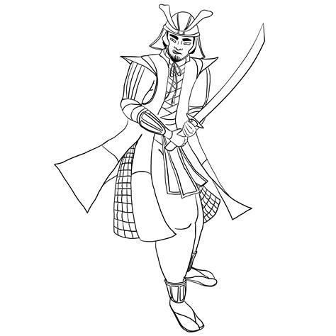 samurai ninja coloring pages samurai commission by laramagyar on deviantart
