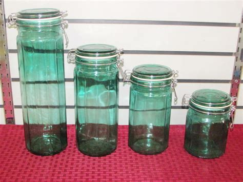 green canister sets kitchen lot detail four piece kitchen canister set in beautiful