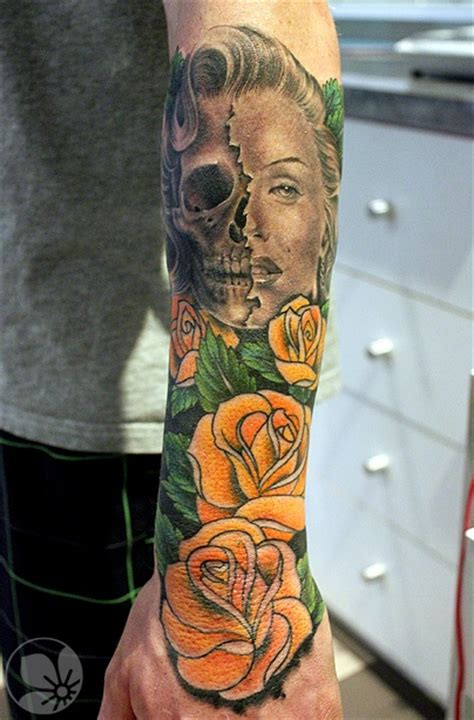 marilyn monroe skull tattoo designs marilyn skull design of tattoosdesign of