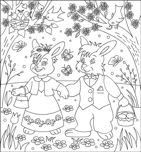free printable coloring pages 4u nicole s free coloring pages easter bunnies coloring page