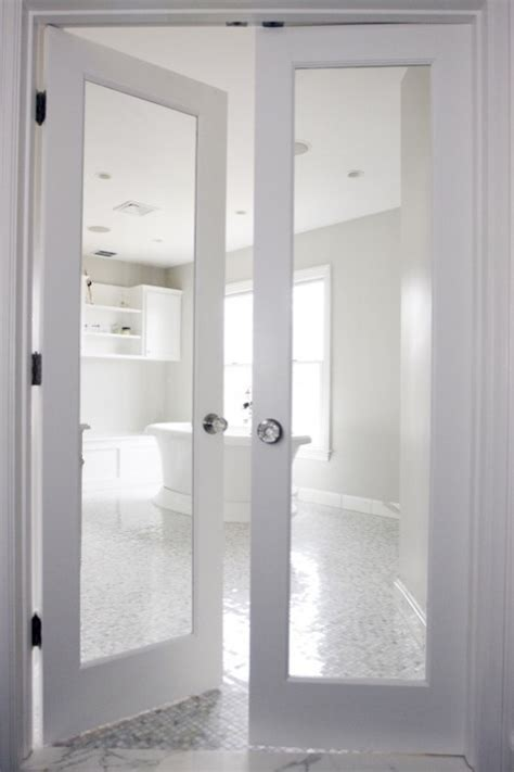 bathroom double doors bathroom french doors transitional bathroom rachel