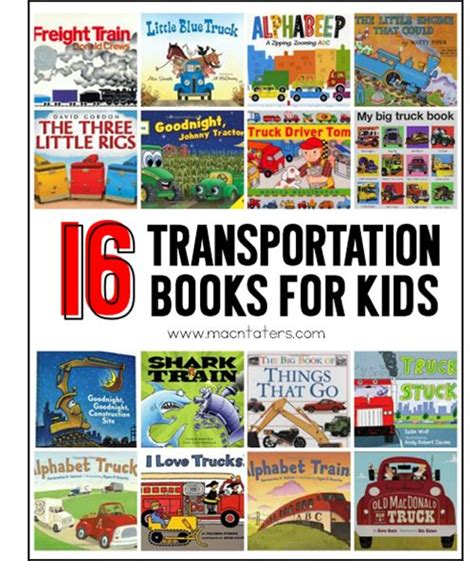 picture books for theme transportation themed books for