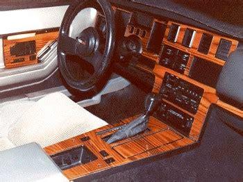 c4 corvette 1984 1989 no mar faux wood center dash
