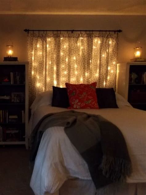 Curtain Lights For Bedroom 16 Diy Headboard Ideas For A Bedroom On Budget Diy Craft Ideas Gardening