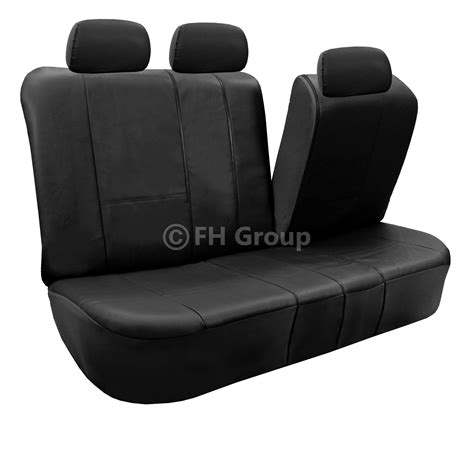 leather bench seat covers 3 row pu leather seat covers for suv air bag safe split