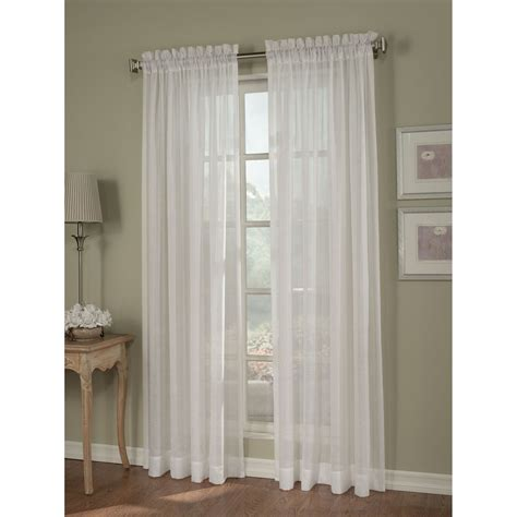 white crinkle sheer curtains jaclyn smith white crinkle stripe sheer window panel