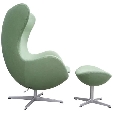 Chair Ottomans Arne Jacobsen Quot Egg Quot Chair With Ottoman At 1stdibs