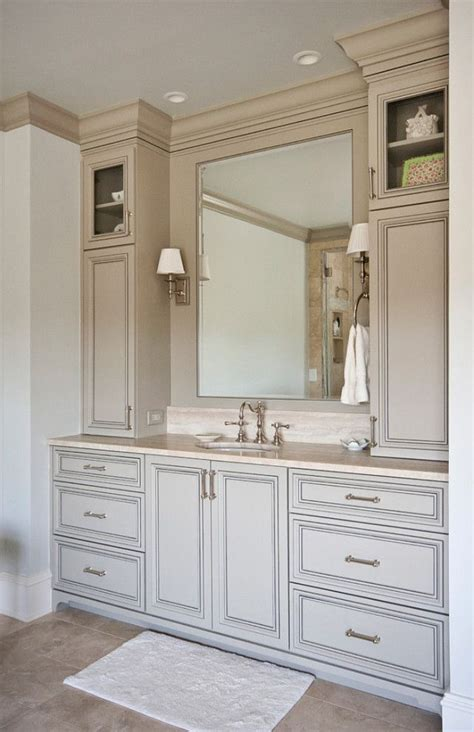 ideas for bathroom vanities and cabinets de 25 bedste id 233 er inden for timeless bathroom p 229