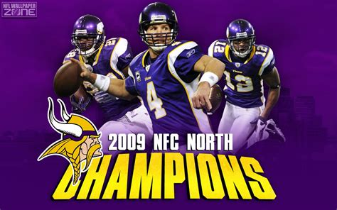 minnesota vikings 2009 nfc north champions photo by