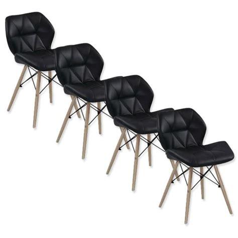 chaise salle a manger design pas cher lot de 4 chaises design ophir noir achat vente chaise