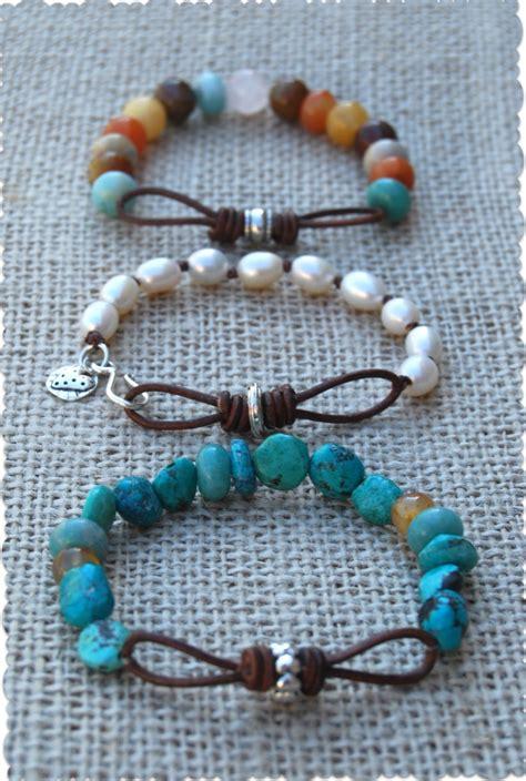 infinity link leather bracelets tutorial jewelry