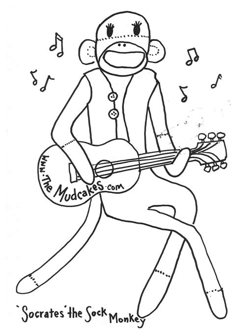 printable sock monkey coloring pages coloring me