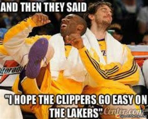 Clippers Meme - lakers shock clippers meme