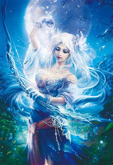 fukami kazuha fantasy art goddess of the moon 1000 micro